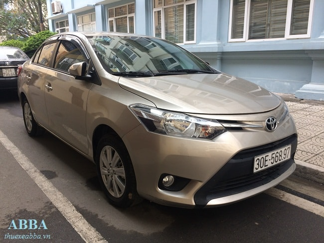 thuê xe 4 chỗ tại hà nội Toyota Vios